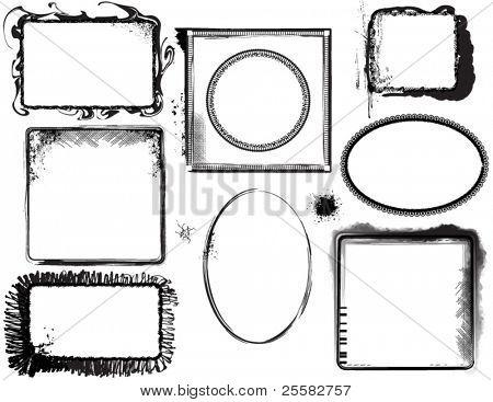 Grunge Frames, Labels