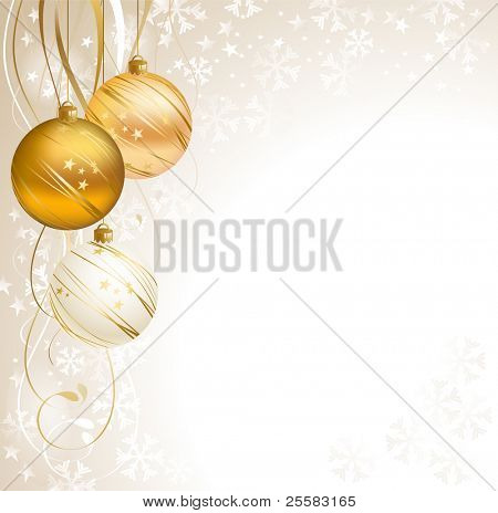 good-looking Christmas backdrop with three balls