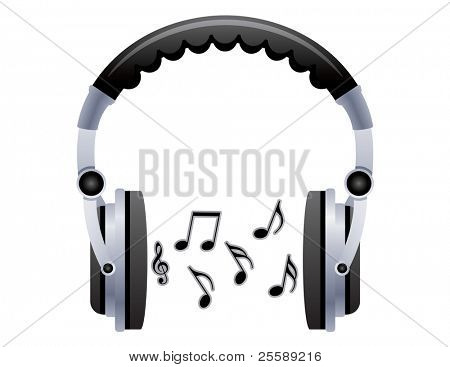 Headphones with notes