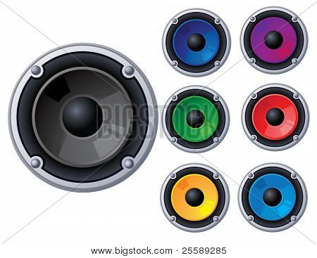 Set of vector speakers