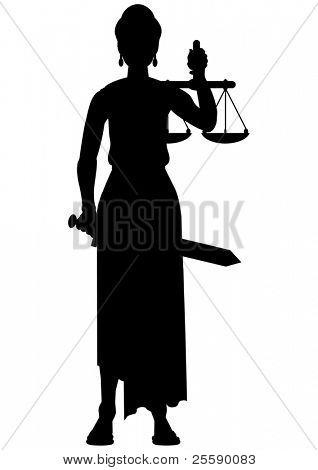 Femida (Themis) Silhouette - eine Göttin der Gerechtigkeit