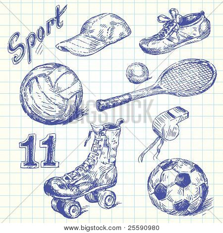 rabiscos de esporte