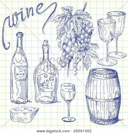 wine doodles