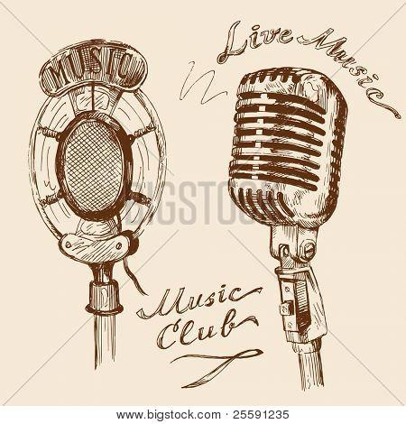 garabatos de micrófono