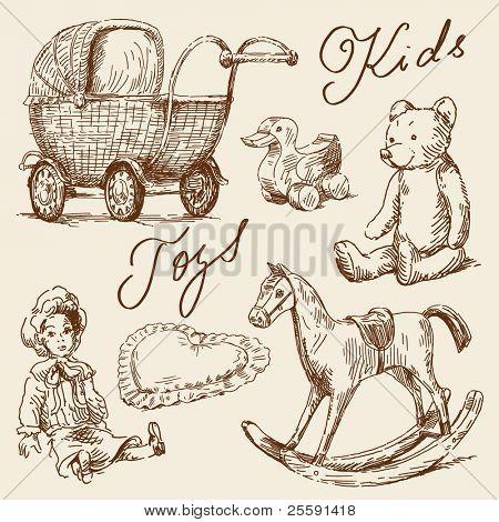 Hand gezeichneten Spielzeug