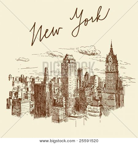 Hand drawn nueva york