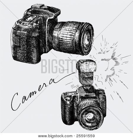 cámara dibujado a mano