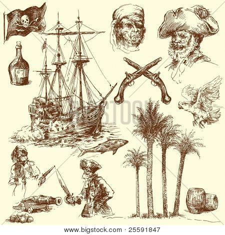 pirates-hand drawn collection