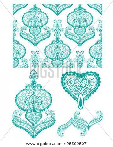 Intrincado dibujo de India. Perfecto para el papel tapiz, Textiles o proyectos de arte de papel.