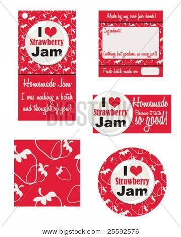 Stuck for a label for your newly made jam?  Grab yourself a contemporary look for that jar.  Make your own Gift tags using these vector patterns.