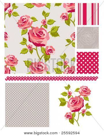 Classic design Elements for scrap-booking, greeting cards, wallpaper, textiles, stencils all patterns are repeat.