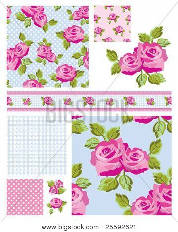 Classic design Elements for scrap booking, greeting cards, wallpaper, textiles, stencils all patterns are repeat.