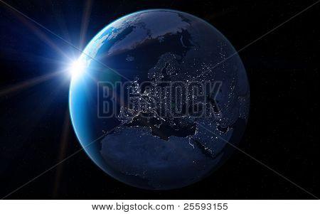 Europa en la noche