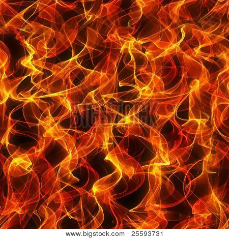 Seamless background: texture of fire and flame