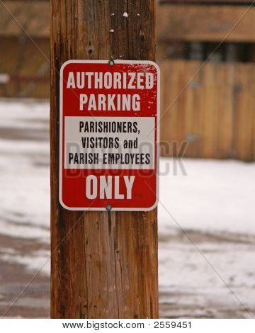 Street Signs Authorized Parking