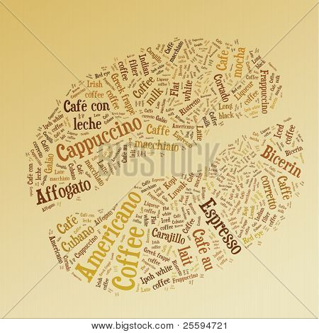 Coffee bean of words