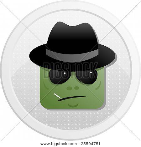 Spy of avatar icons set