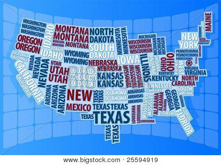Text USA map