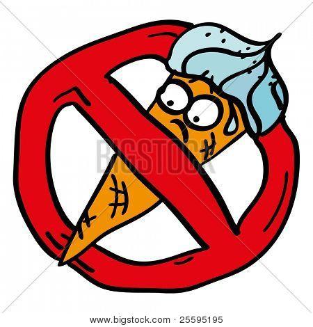 Prohibited ice cream