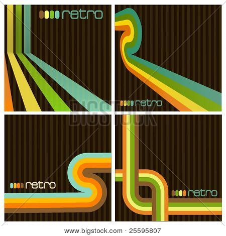 Retro Background Set