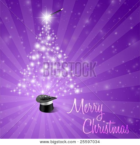 Abstract Magical Christmas Background