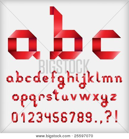 Ribbon Alphabet with numbers