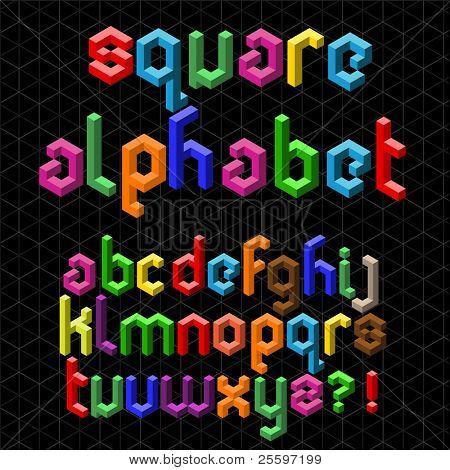 Colorful Square Alphabet