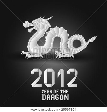 Dragão de origami de 2012