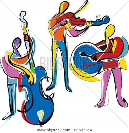 popart abstract musicians