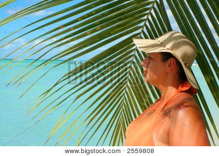Tropical Beach Woman