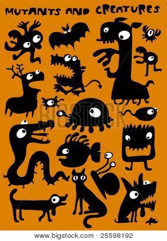 monstruos, mutantes y criaturas