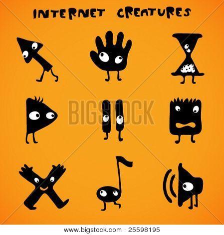 cursores - criaturas de internet