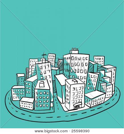 Ilustración de la ciudad 2