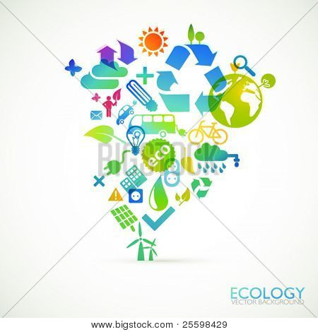 Modern ecology vector background