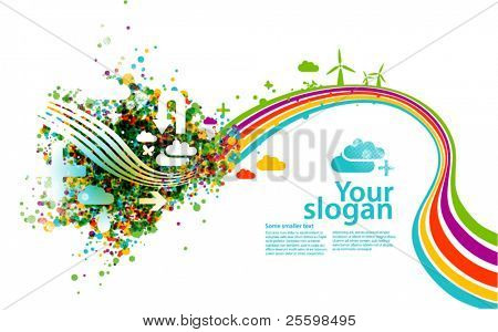 modern vector background - ecology concept