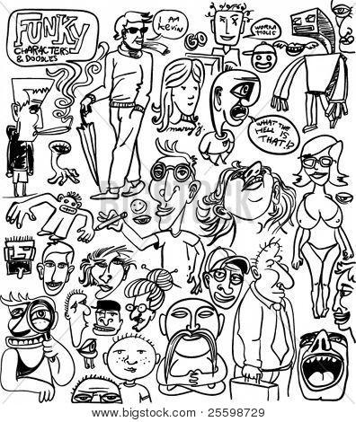 Festlegen der Irre verschiedene Zeichen Zeichnungen