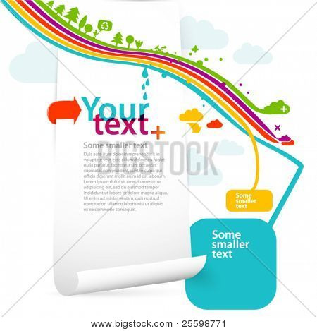 funky graphic design template