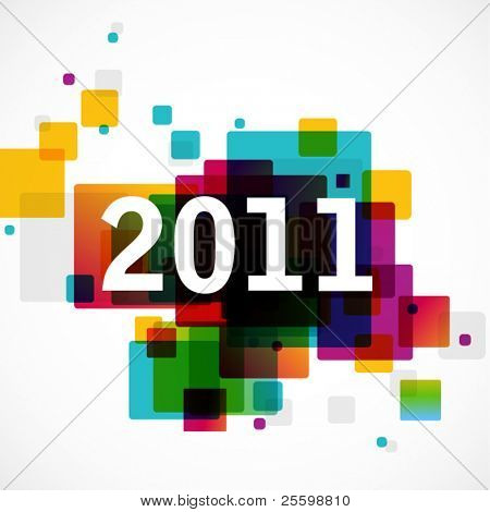 Ano novo 2011 - funky design gráfico