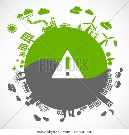Grün und grau nachhaltige Entwicklungskonzept