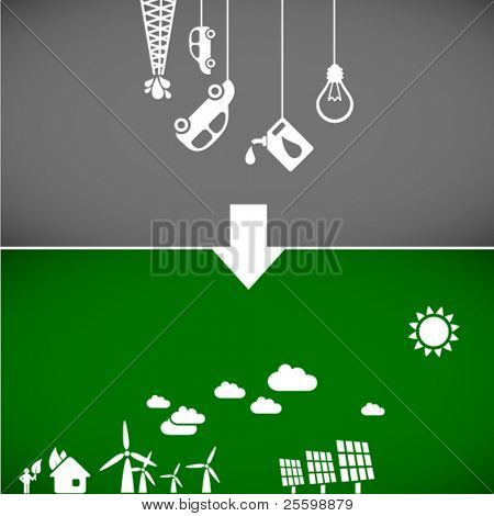 sustainable development concept - ecology banners 2 // see also others from this series in my portfolio