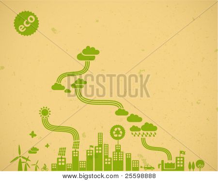 ecology background / eco visual