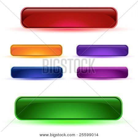 Glass buttons different colors