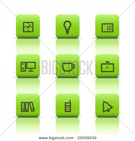 Office icons green buttons 1
