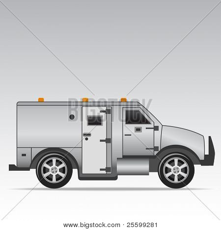 Armored truck vector