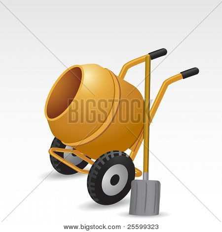 Concrete mixer vector