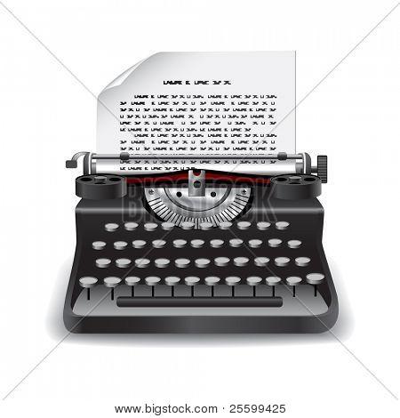 Typing machine vector