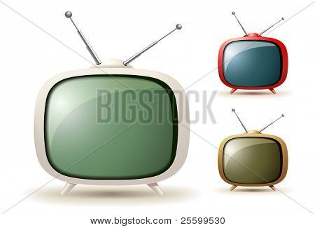 Cute vector de tv