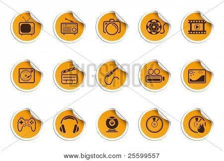 Media icons | Sticky series
