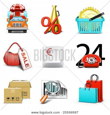 Shopping icons | Bella series