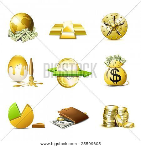 Ícones de dinheiro e Finanças | Série de Bella